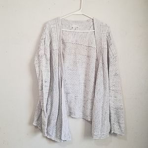 House of Harlow 1960 Marled Open Knit Cardigan